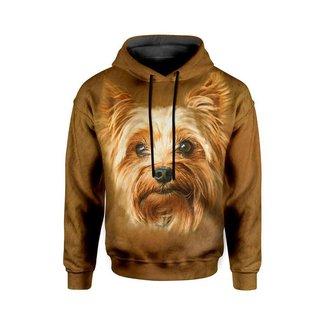 Moletom Com Capuz Unissex Yorkshire Terrier md01 - G