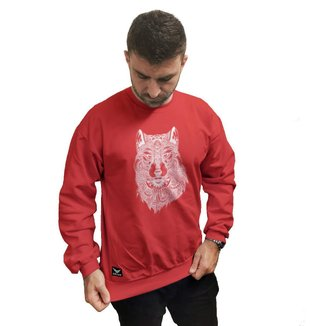 Moletom Crew Neck Cellos Abstract Wolf Premium