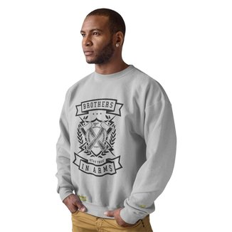 Moletom Crew Neck Ukkan Brothers In Arms Masculino