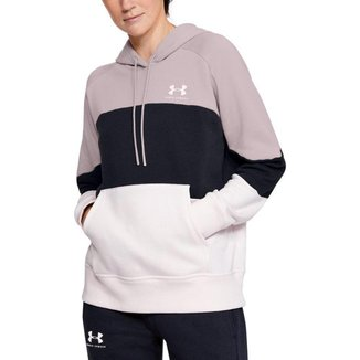 Moletom de Treino Feminino Under Armour Rival Fleece Color Block