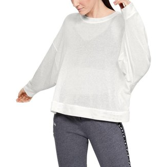 Moletom De Treino  Under Armour Mesh Around Oversize Crew Feminino