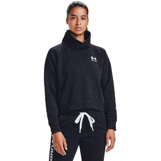 Moletom De Treino  Under Armour Rival Fleece Wrap Neck Feminino
