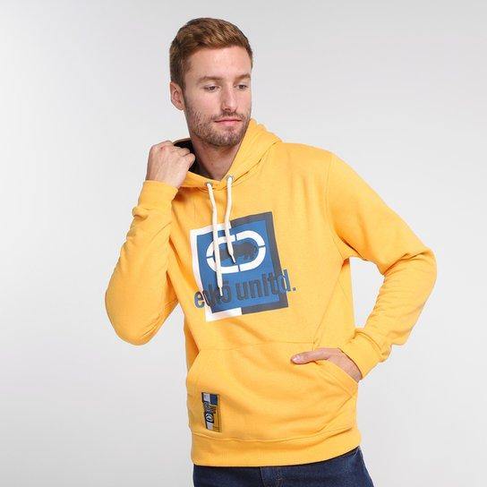 Moletom Ecko Classic Canguru Masculino - Amarelo