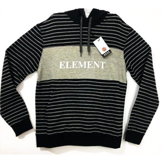 Moletom Element Striped Block Com Capuz Masculino