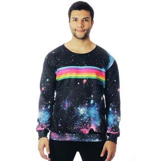 Moletom ElephunK Galaxy Full Print Rainbow Galaxy