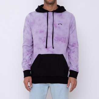 MOLETOM FECH WAVE WASHED BLOCKED - LILAS - GG