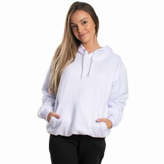 Moletom Feminino Liso Abrigo Blusa Casaco com Capuz
