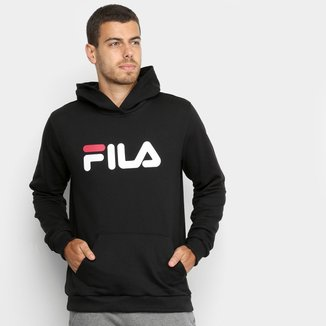 Moletom Fila com Logo e Capuz Masculino