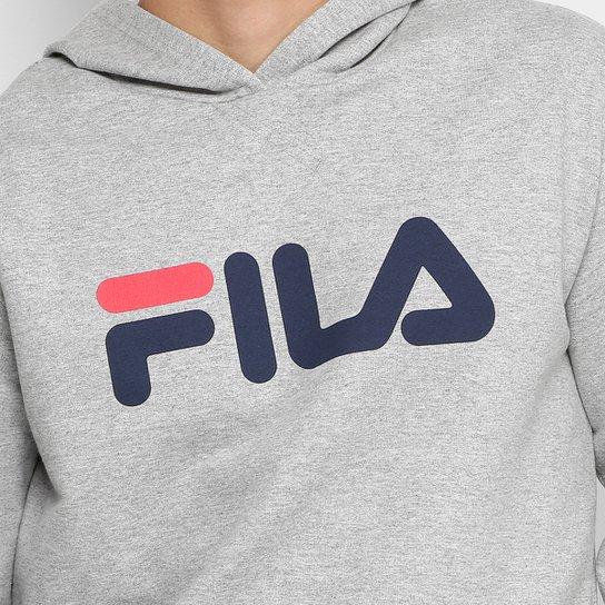 Moletom Fila com Logo e Capuz Masculino - Mescla