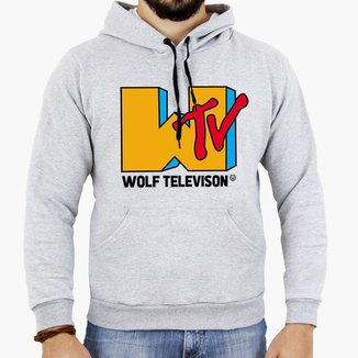 Moletom Forthem Canguru Wolf Television Capuz Masculino
