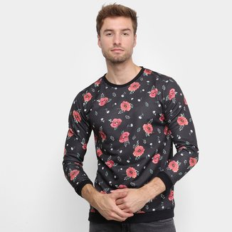 Moletom Gajang Estampa Floral Masculino