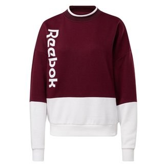 Moletom Gola Careca Training Essentials Logo Reebok