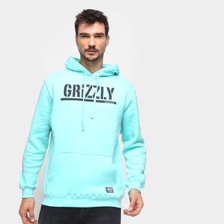 Moletom Grizzly Estampado C/ Capuz Masculino