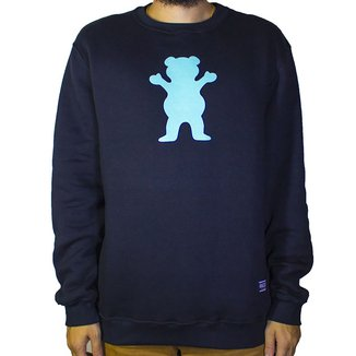 Moletom Grizzly Ob Bear Pullover Masculino