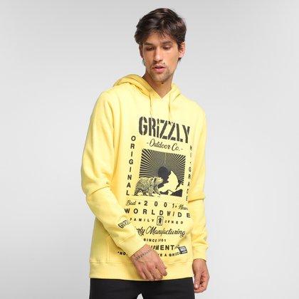 Moletom Grizzly Tagline Hoodie Canguru Masculino