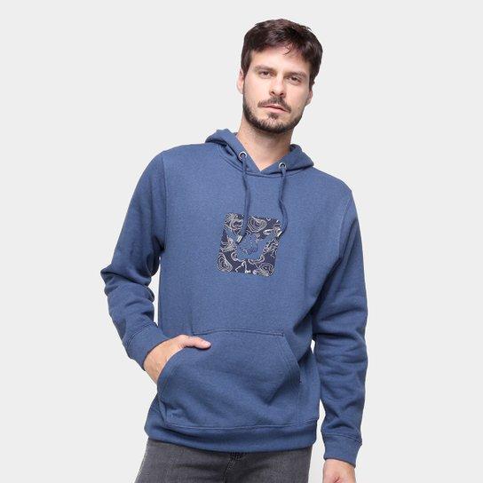Moletom Hang Loose Fc Logoswell Canguru Masculino - Azul