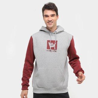Moletom Hang Loose Logo Canguru Masculino