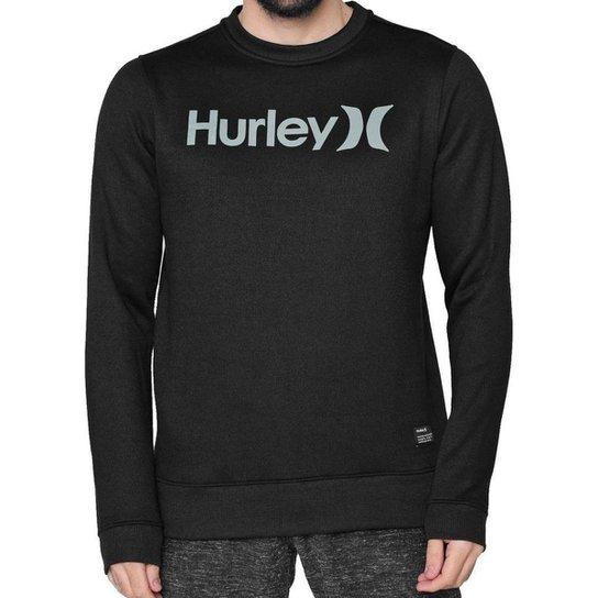 Moletom Hurley Careca O&O Solid Masculino - Preto