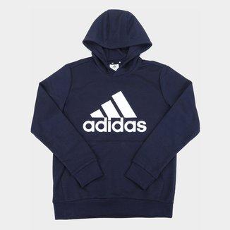 Moletom Infantil Adidas Essentials Big Logo Canguru Masculino