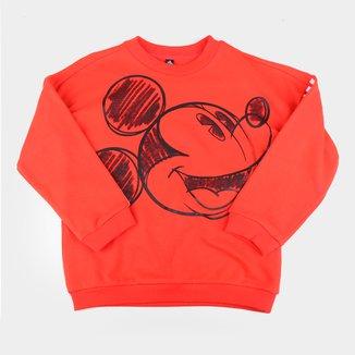 Moletom Infantil Adidas Mickey Mouse Crew Masculino