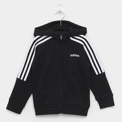Moletom Infantil Adidas Yb Hd Fz 3S Masculino