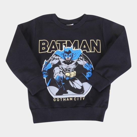 Moletom Infantil Brandili Batman Masculino - Preto