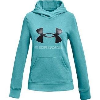 Moletom Infantil Feminino Rival Fleece Logo Hoodie