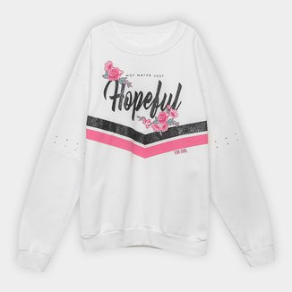 Moletom Infantil For Girl Hopeful Feminino