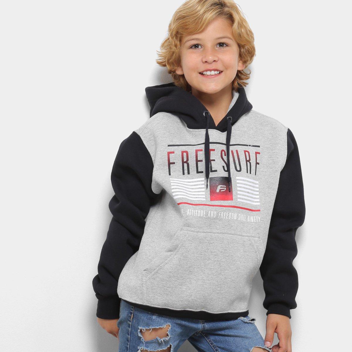 Moletom Infantil Freesurf com Capuz Masculino - Compre Agora  57bf21c0237