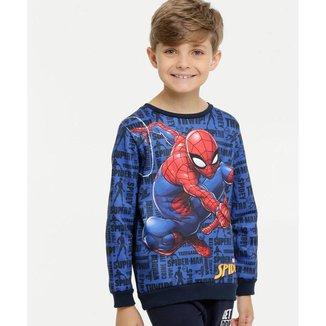 Moletom Infantil Homem Aranha Marvel Masculino