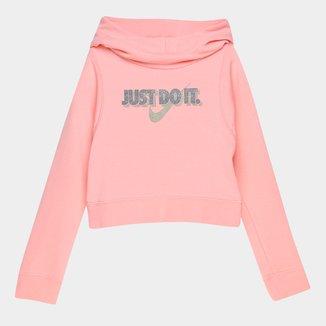 Moletom Infantil Nike G Nsw Modern Hoodie Croped Feminino