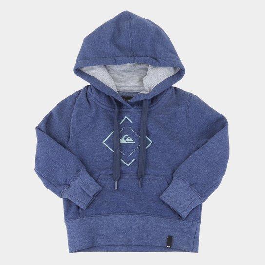 Moletom Infantil Quiksilver Square Canguru Masculino - Azul