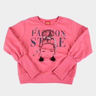 Moletom Juvenil Kyly Cropped Fashion Style Feminino