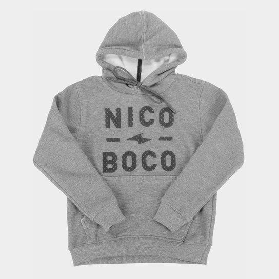 Moletom Juvenil Nicoboco Canguru Geremon Masculino - Mescla