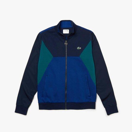 Moletom Lacoste Sport Masculino - Azul Petróleo+Verde