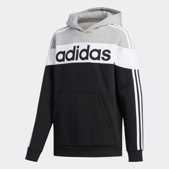 Moletom LIN CB HD FL  Adidas - Preto
