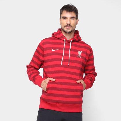 Moletom Liverpool Nike Pullover Canguru Masculino