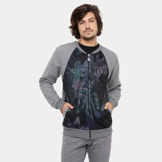 Moletom Local Bomber Tela Flowers