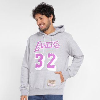 Moletom Los Angeles Lakers Magic Johnson Mitchell & Ness Canguru Masculino
