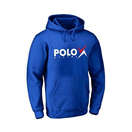 Moletom Masculino Canguru Confortável Capuz Macio Bolsos - Azul Royal