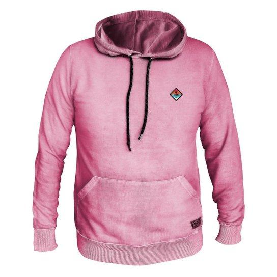 Moletom Masculino Estonado WSS Diamond Colors Chiclete - Rosa