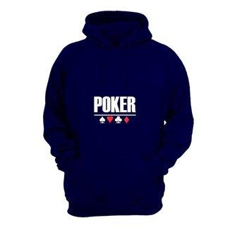 Moletom Masculino Fechado Capuz Poker Confortável Dia a Dia