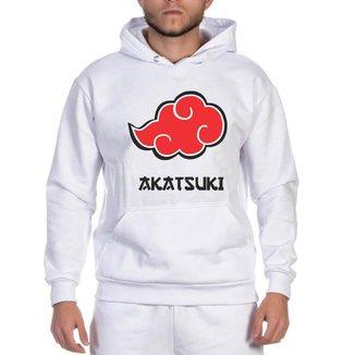 Moletom Masculino Kayller Blusa Canguru Estampa Naruto Akatisuki