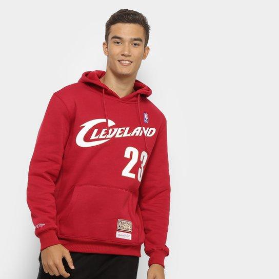 Moletom Mitchell & Ness Cleveland Cavaliers Canguru Masculino - Vermelho