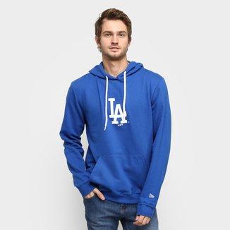Moletom MLB Los Angeles Dodgers New Era Basic Sazonal Uno Masculino