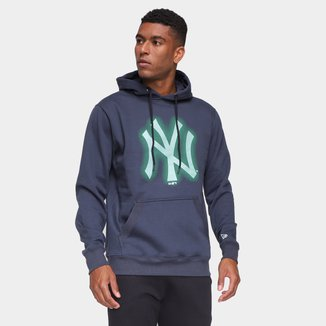 Moletom MLB New York Yankees New Era Rave Space Glow Masculino