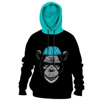 Moletom Moleton blusa de frio Canguru Monkey Brain casaco blusão