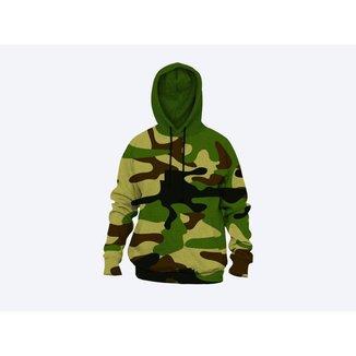 Moletom Moleton blusa de frio Canguru Unissex casaco blusão camuflado