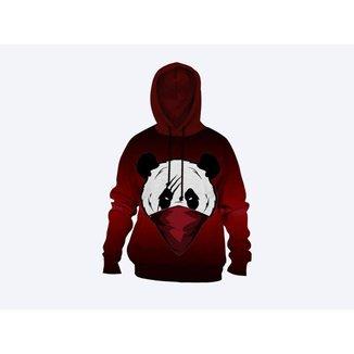 Moletom Moleton blusa de frio Canguru Unissex casaco blusão panda