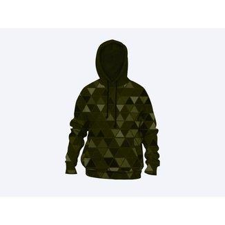Moletom Moleton blusa de frio Canguru Unissex casaco blusão triangulo camuflado
